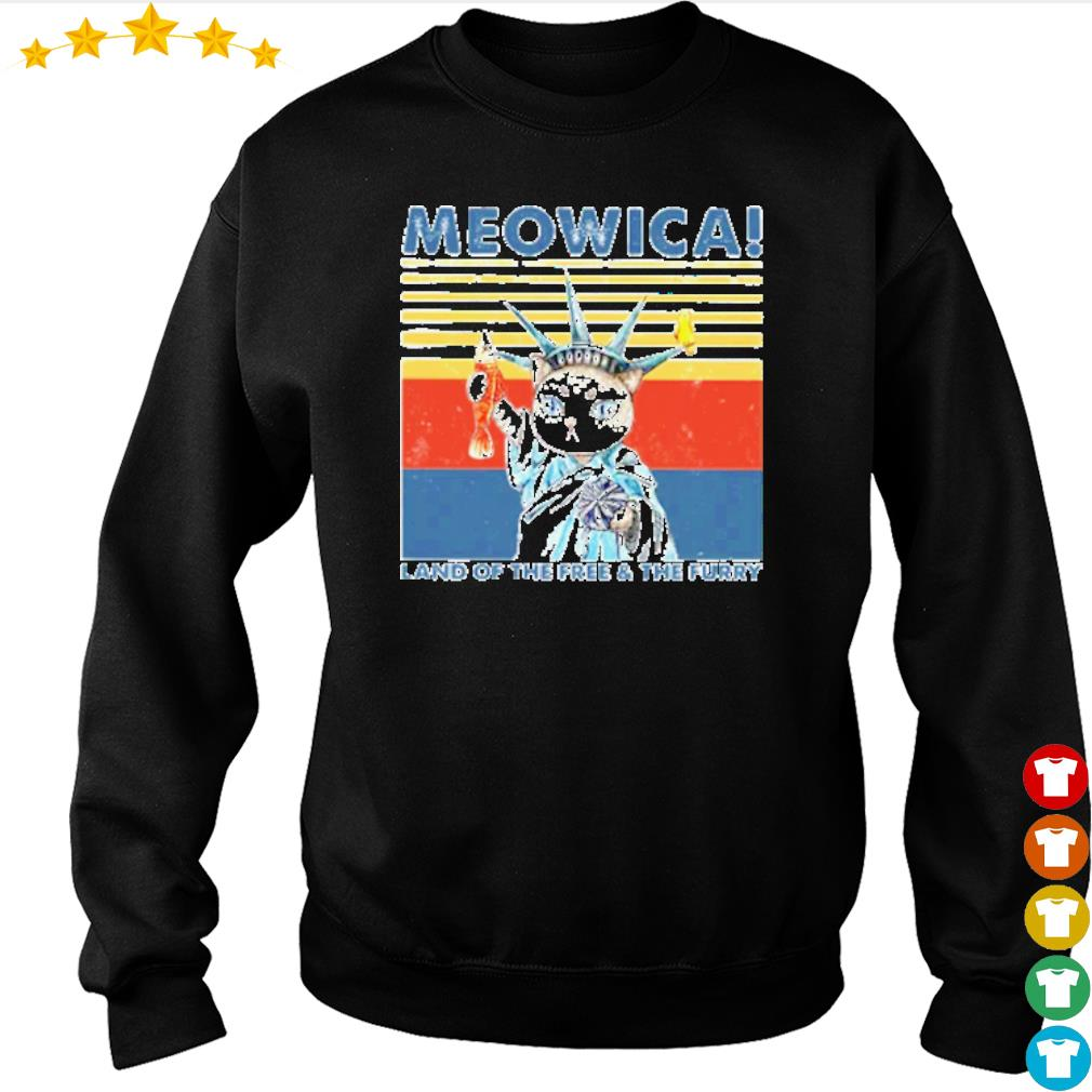 Vintage Meowica land of the free and the furry s sweater