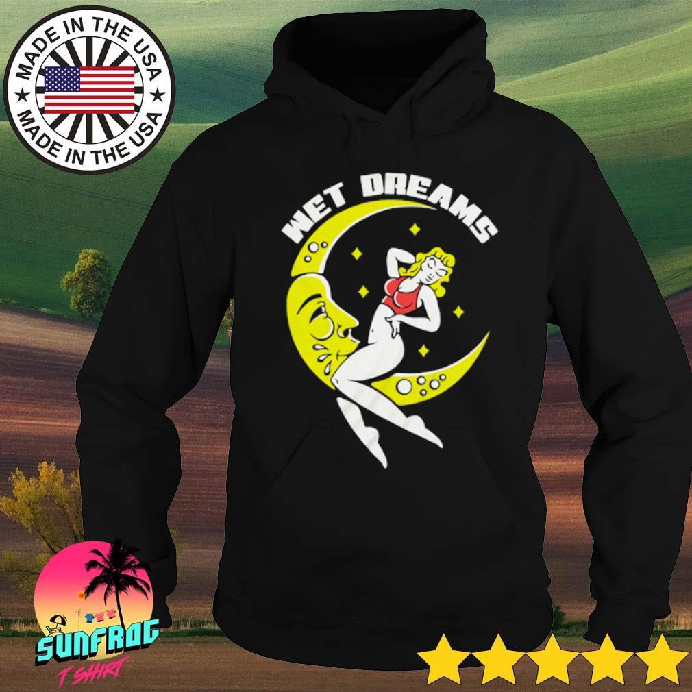 Wet dreams girl sitting on the moon s Hoodie Black