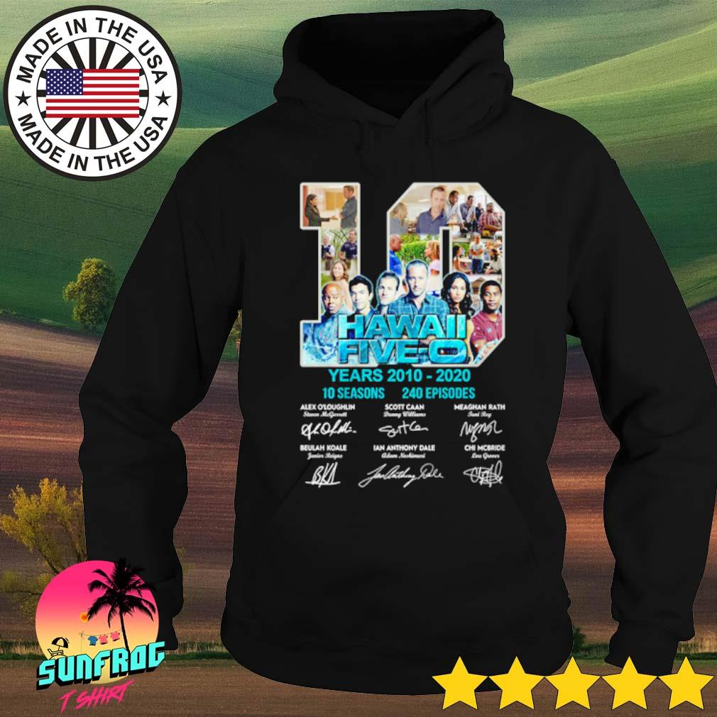 10 Years Hawaii Five-0 2010-2020 10 seasons 240 episodes signatures s Hoodie Black