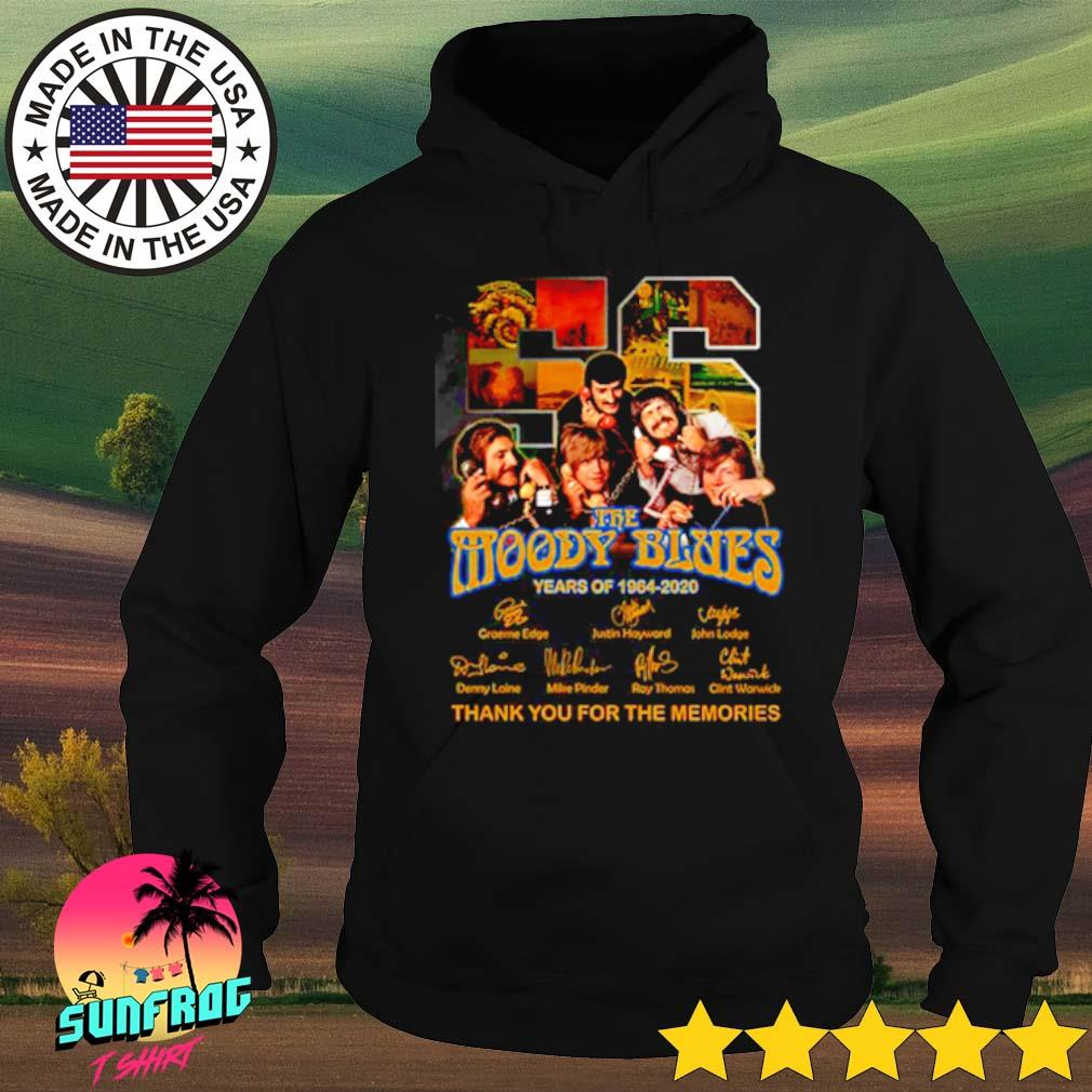56 Years of The Moody Blues 1964-2020 thank you for the memories signatures s Hoodie Black
