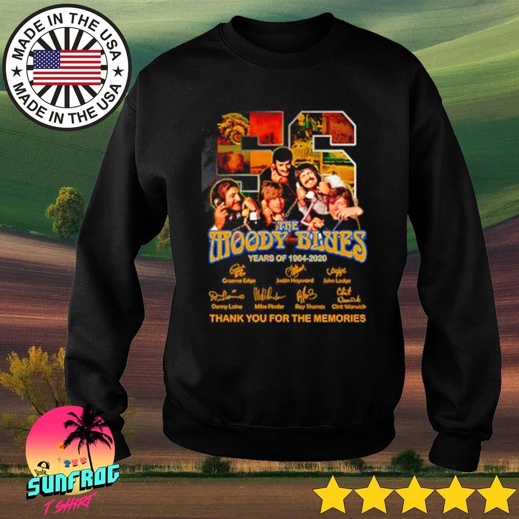 56 Years of The Moody Blues 1964-2020 thank you for the memories signatures s Sweater Black