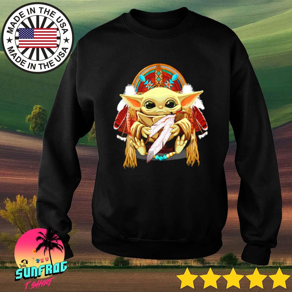 Baby Yoda Native American s Sweater Black