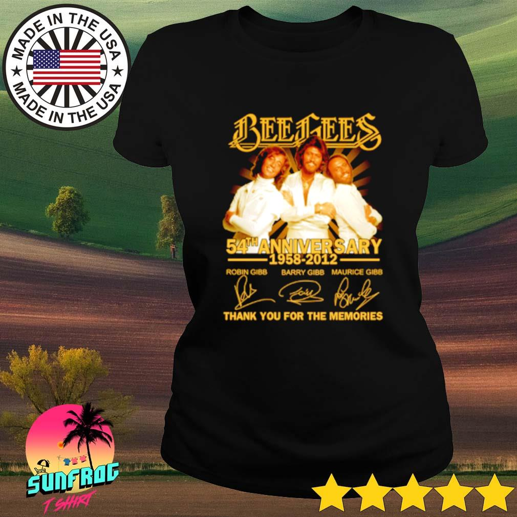 Bees Bees 54th Anniversary 1958-2012 thank you for the memories s Ladies Tee Black