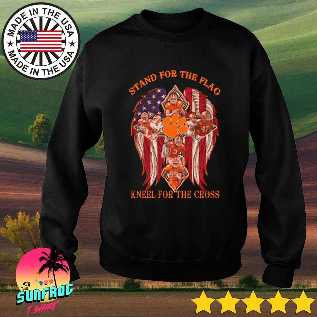 Clemson Tigers stand for the flag kneel for the cross s Sweater Black