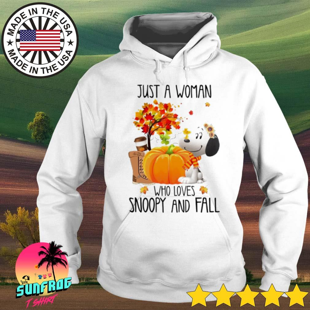 Halloween Pumpkin just a woman who loves Snoopy and fall s Hoodie White