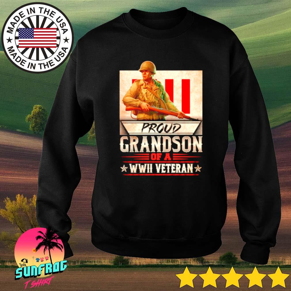 Proud Grandson of a WWII Veterans s Sweater Black