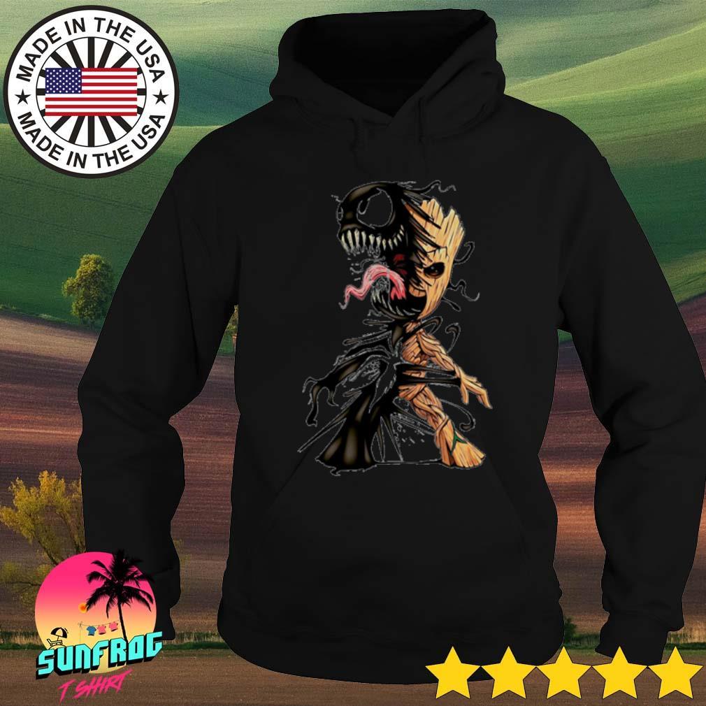 Baby groot and venom s Hoodie Black