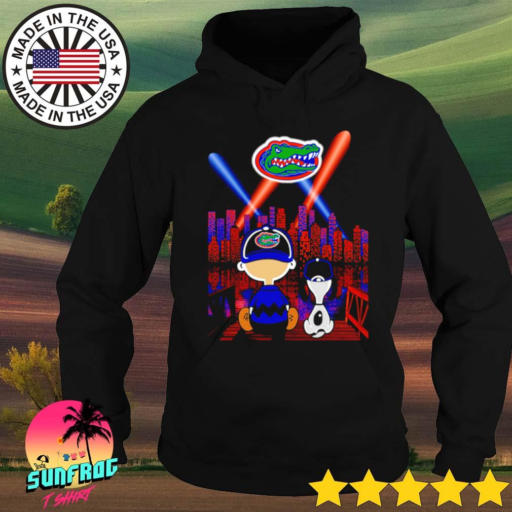 Charlie Brown and Snoopy Florida Gators city by night s Hoodie Black
