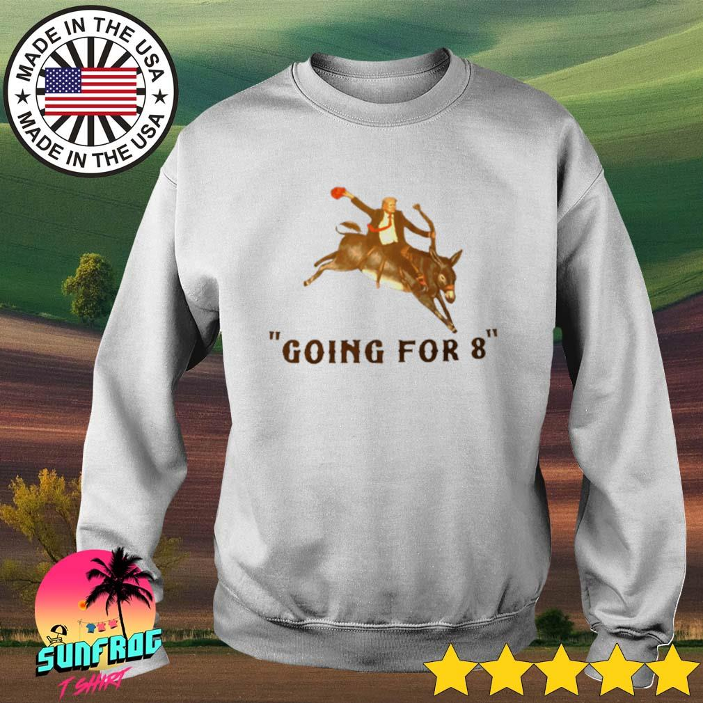 Donald Trump riding donkey going for 8 s Sweater White