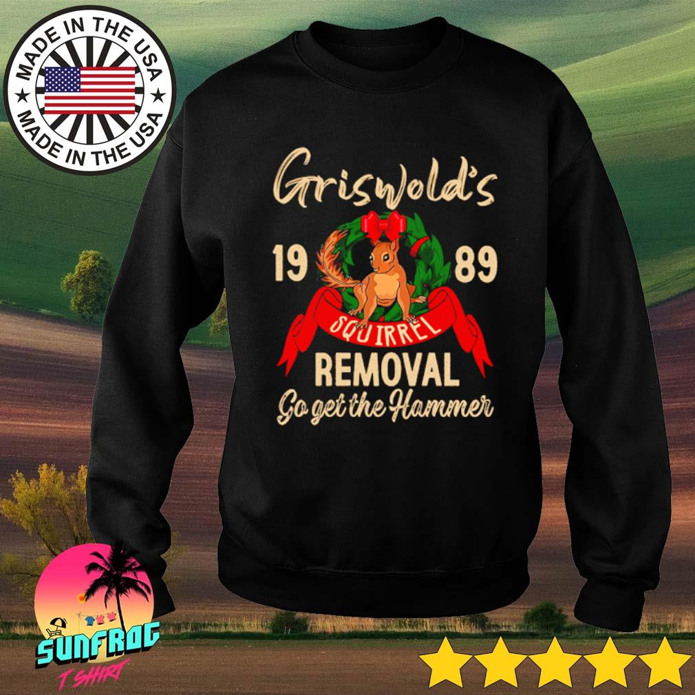 Griswold's 1989 squirrel go get the hammer s Sweater Black
