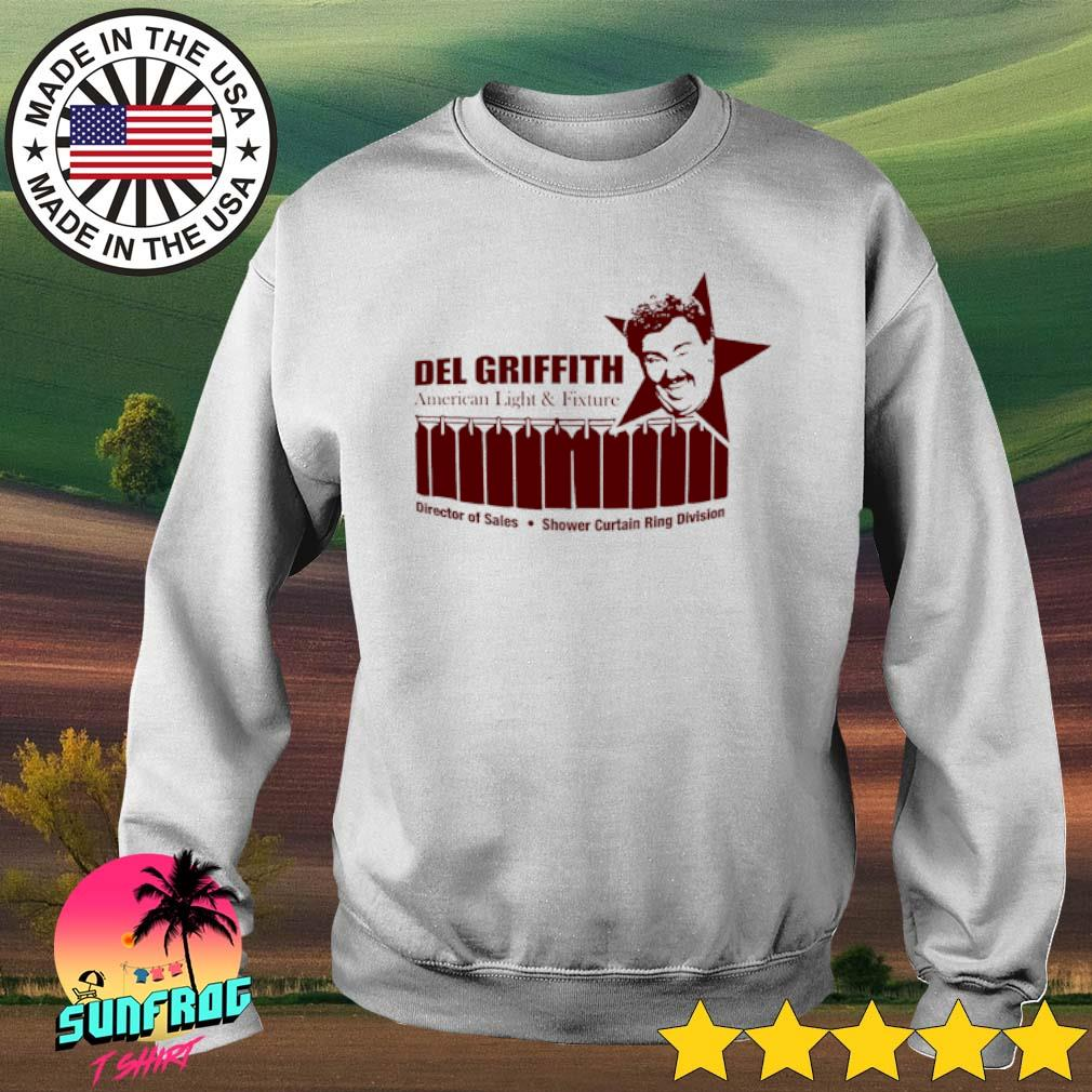 John Candy Del Griffith American light and fixture director of sales shower curtain ring division s Sweater White