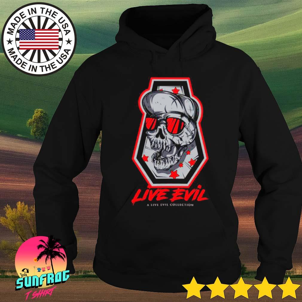 Skull Live Evil a live ever collection s Hoodie Black