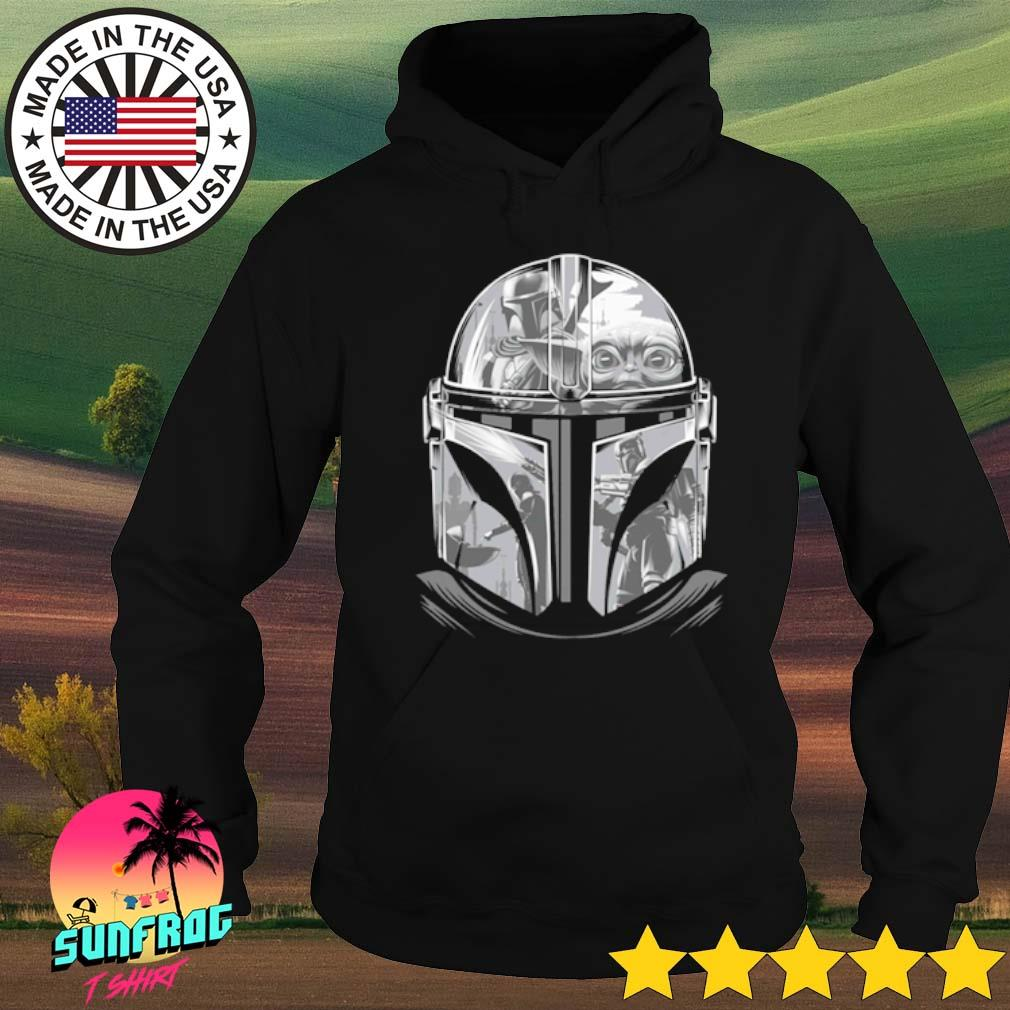 Star Wars The Mandalorian Helmet Mandalorian s Hoodie Black