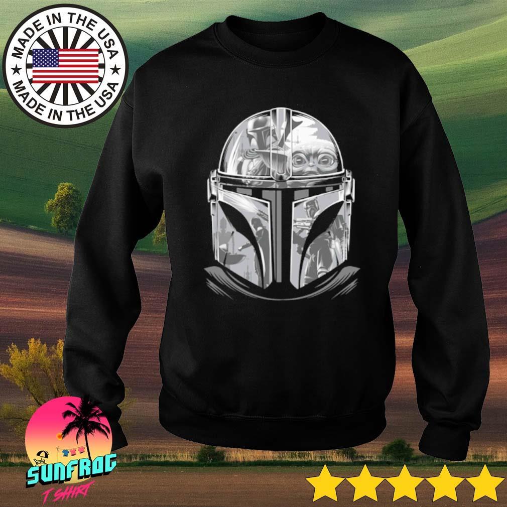 Star Wars The Mandalorian Helmet Mandalorian s Sweater Black