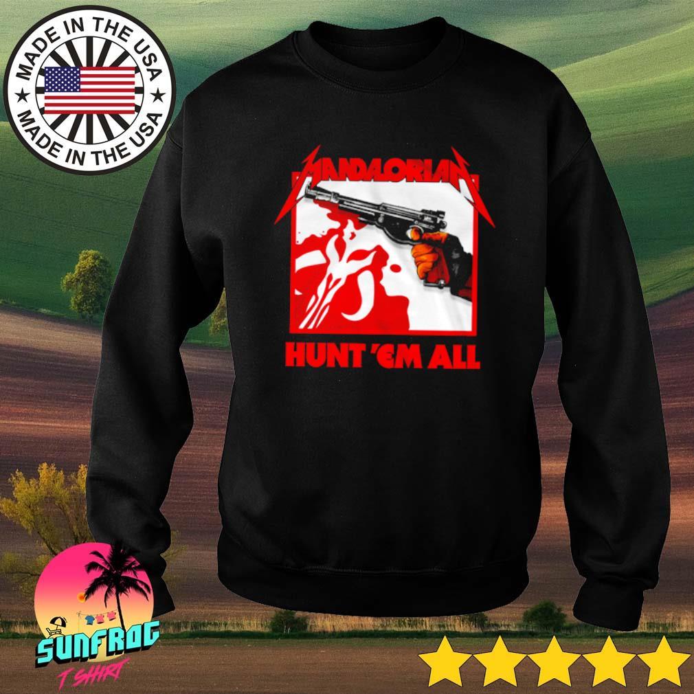Star Wars The Mandalorian Hunt Em All s Sweater Black