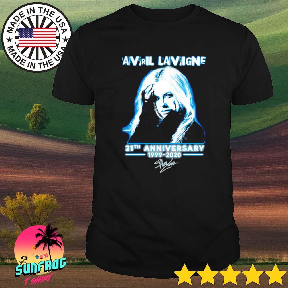 Avril Lavigne 21th Anniversary 1999-2020 signature shirt