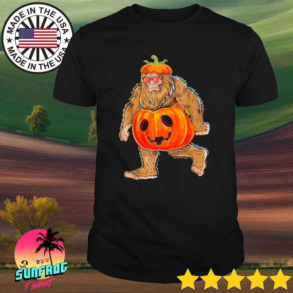 Bigfoot pumpkin Halloween shirt