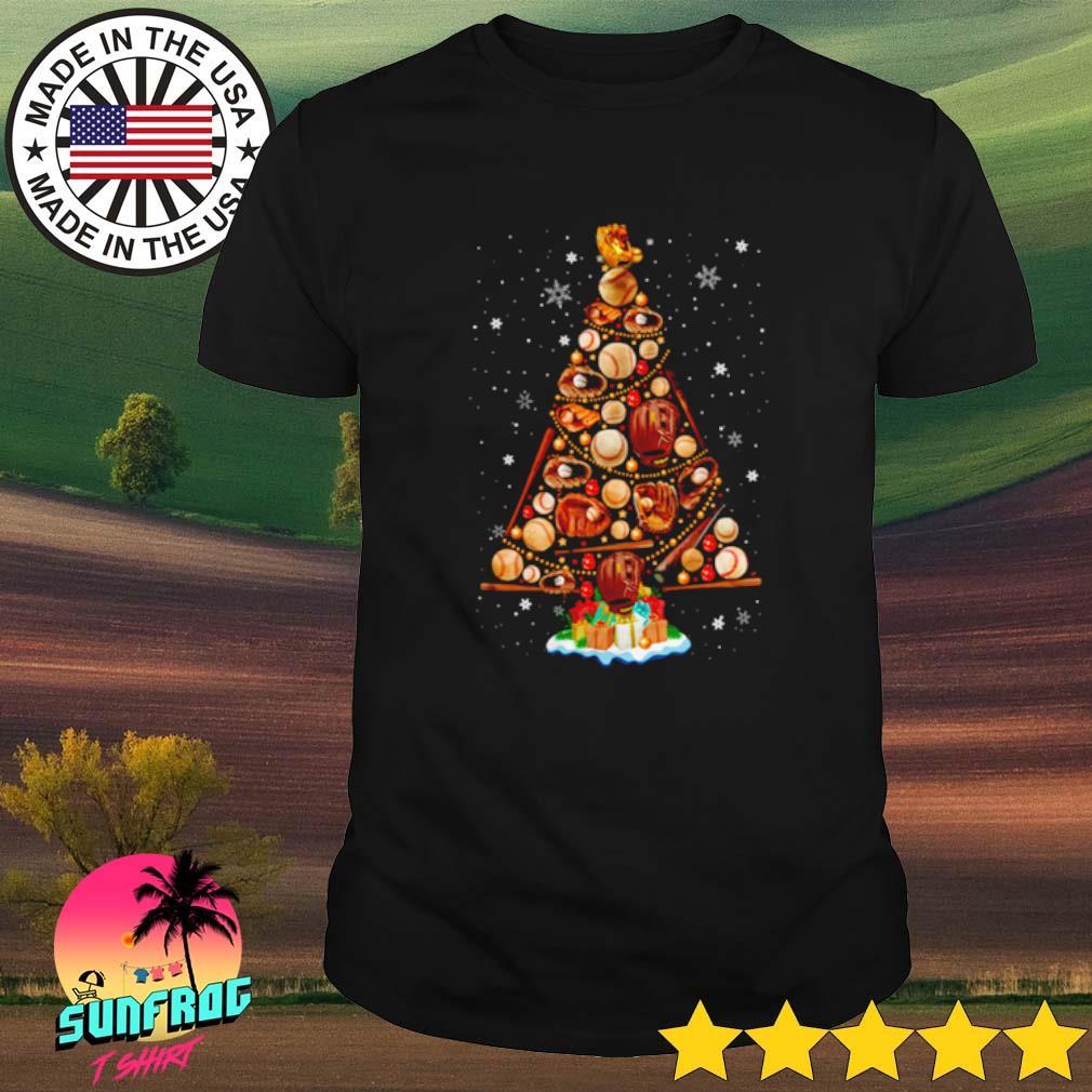 Christmas tree baseball shirt