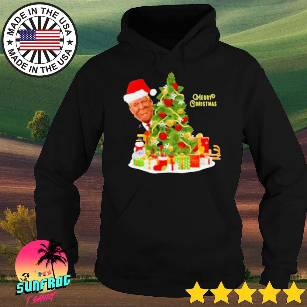 Donald Trump Merry Christmas tree sweater Hoodie