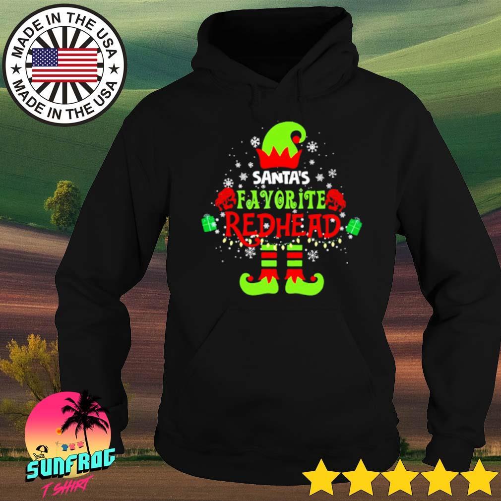 Elf Santa's favorite redhead Christmas sweater Hoodie