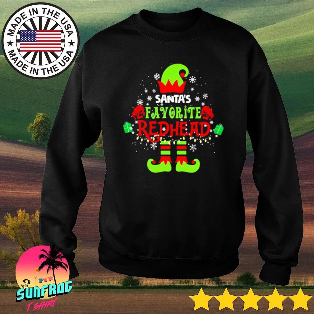 Elf Santa's favorite redhead Christmas sweater