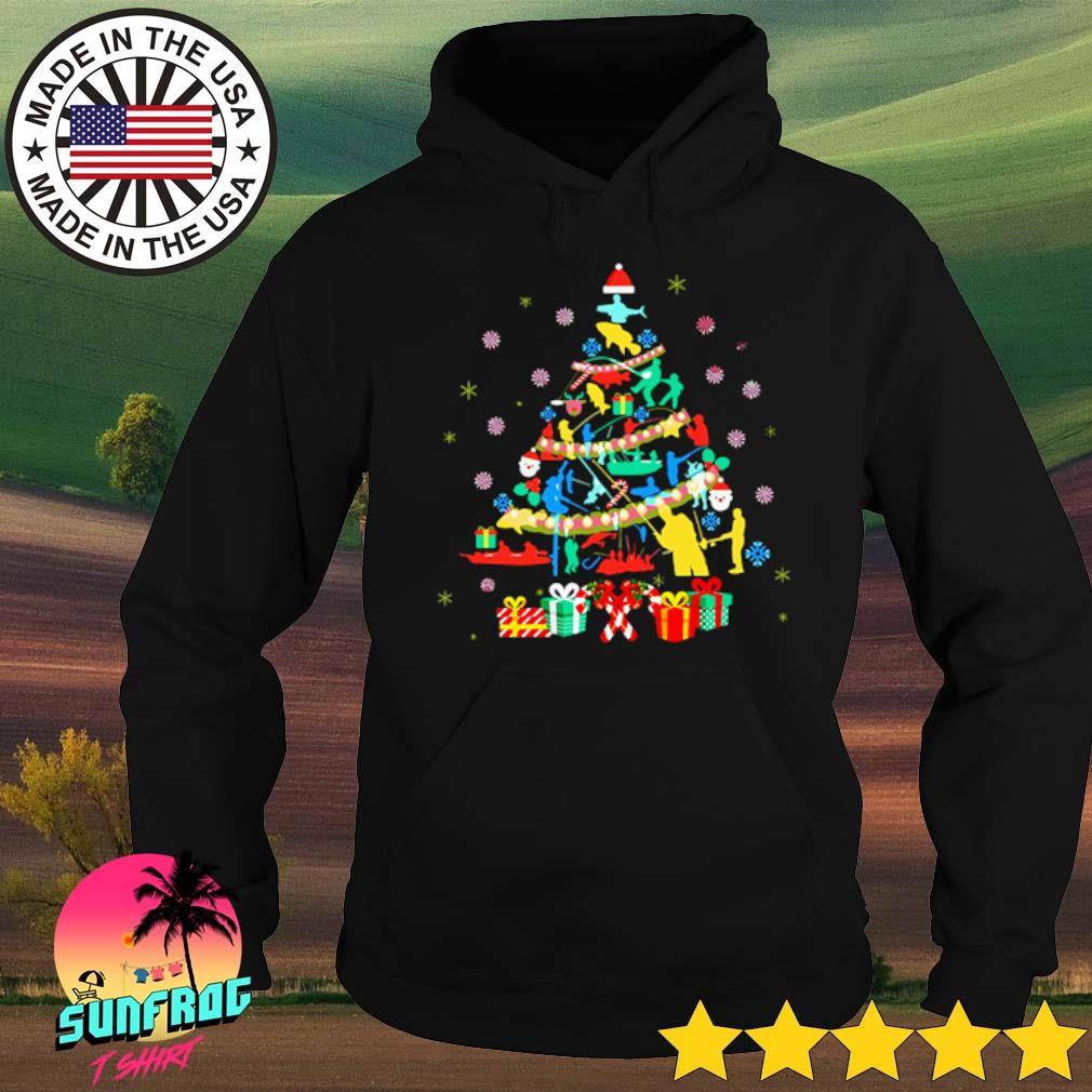 Fishing Christmas tree sweater Hoodie