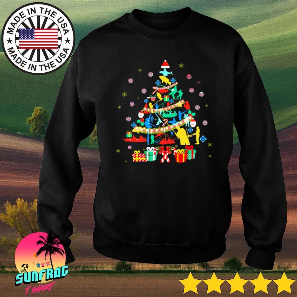 Fishing Christmas tree sweater