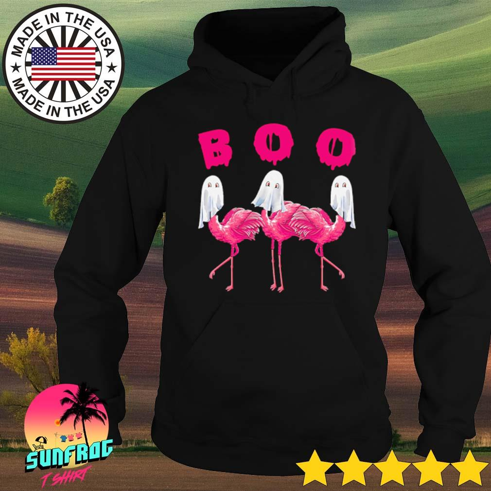 Halloween Boo Flamingos pink s Hoodie Black