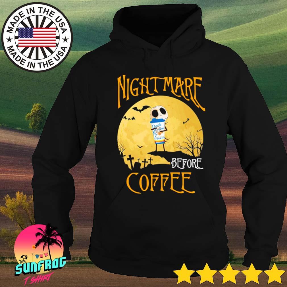 Halloween Jack Skellington hug Dutch Bros Coffee nightmare before coffee s Hoodie Black