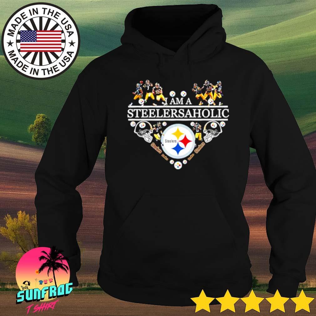 Heart Pittsburgh Steelers I am a Steelers aholic s Hoodie Black
