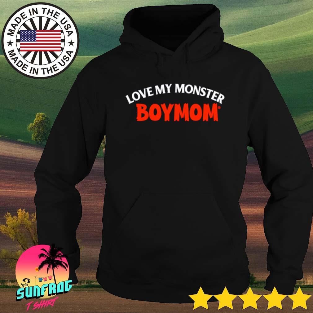 Love my monster boymom s Hoodie Black