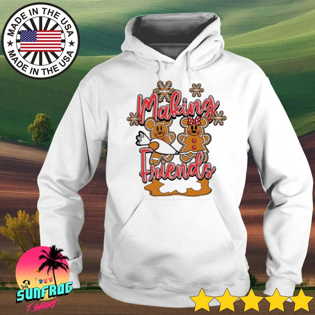 Mickey and Minnie Mouse cake making Friends Christmas sweater Hoodie