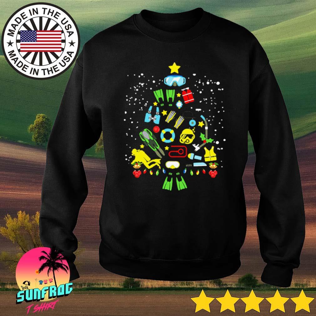 Scuba diving Christmas sweater