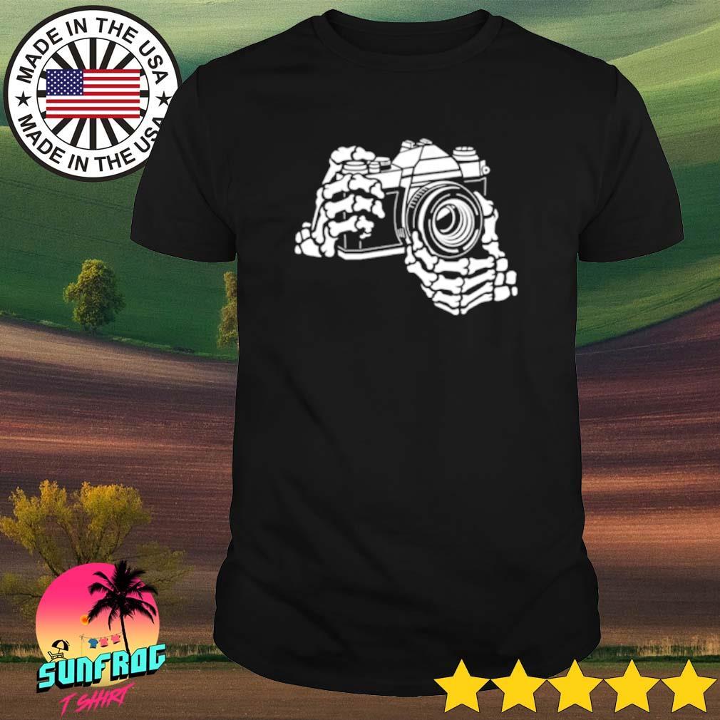 Skeleton Hands 35mm SLR Film Camera shirt