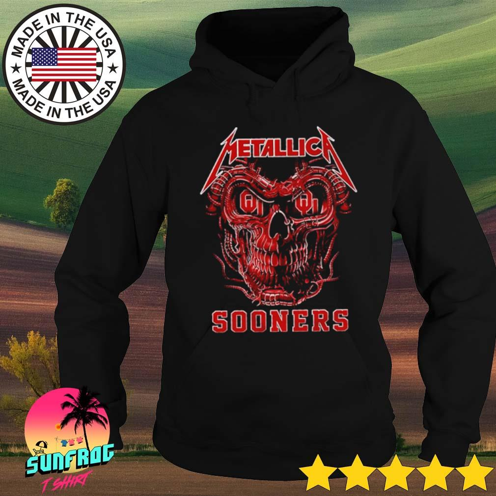 Skull head Metallica Oklahoma Sooners s Hoodie Black