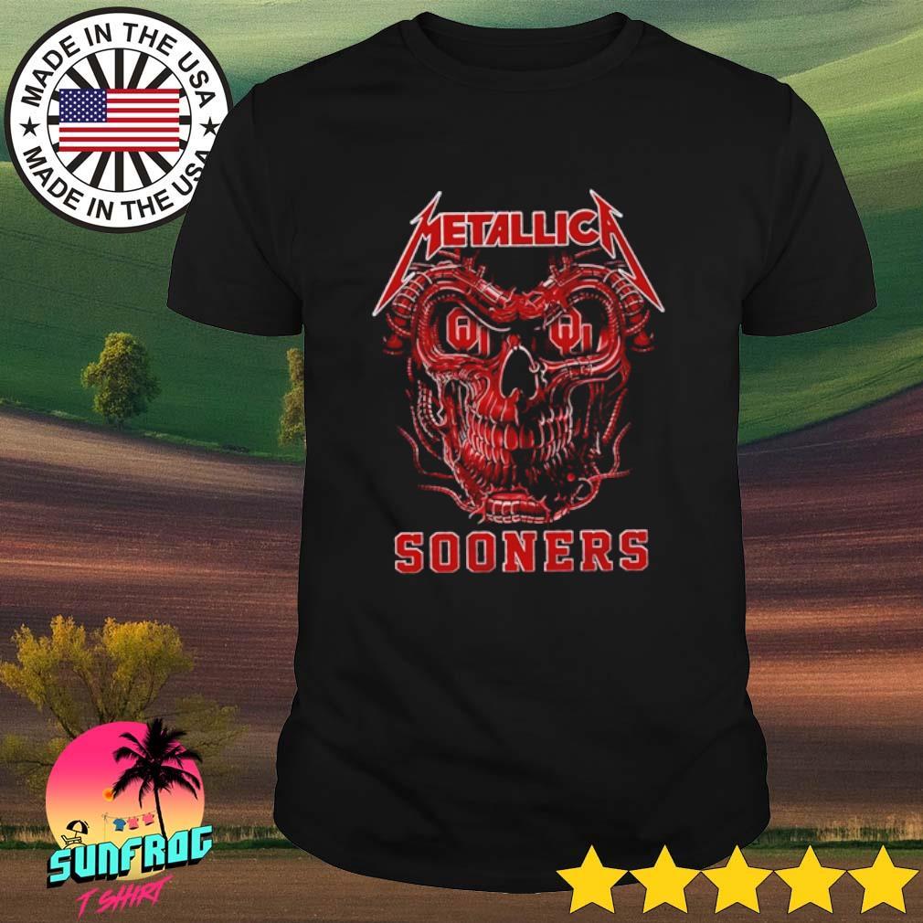 Skull head Metallica Oklahoma Sooners shirt