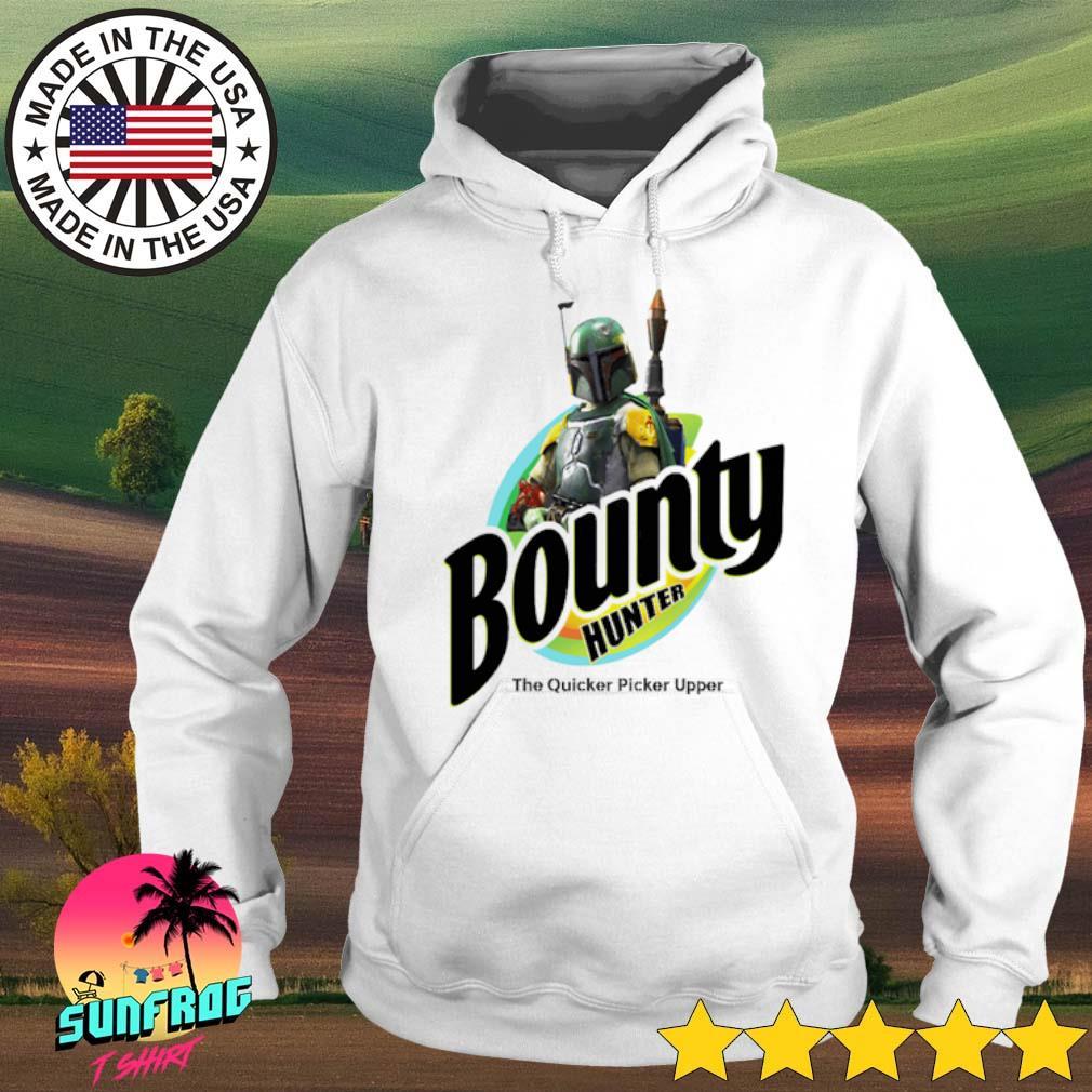 The Mandalorian Bounty hunter the quicker picker upper s Hoodie White