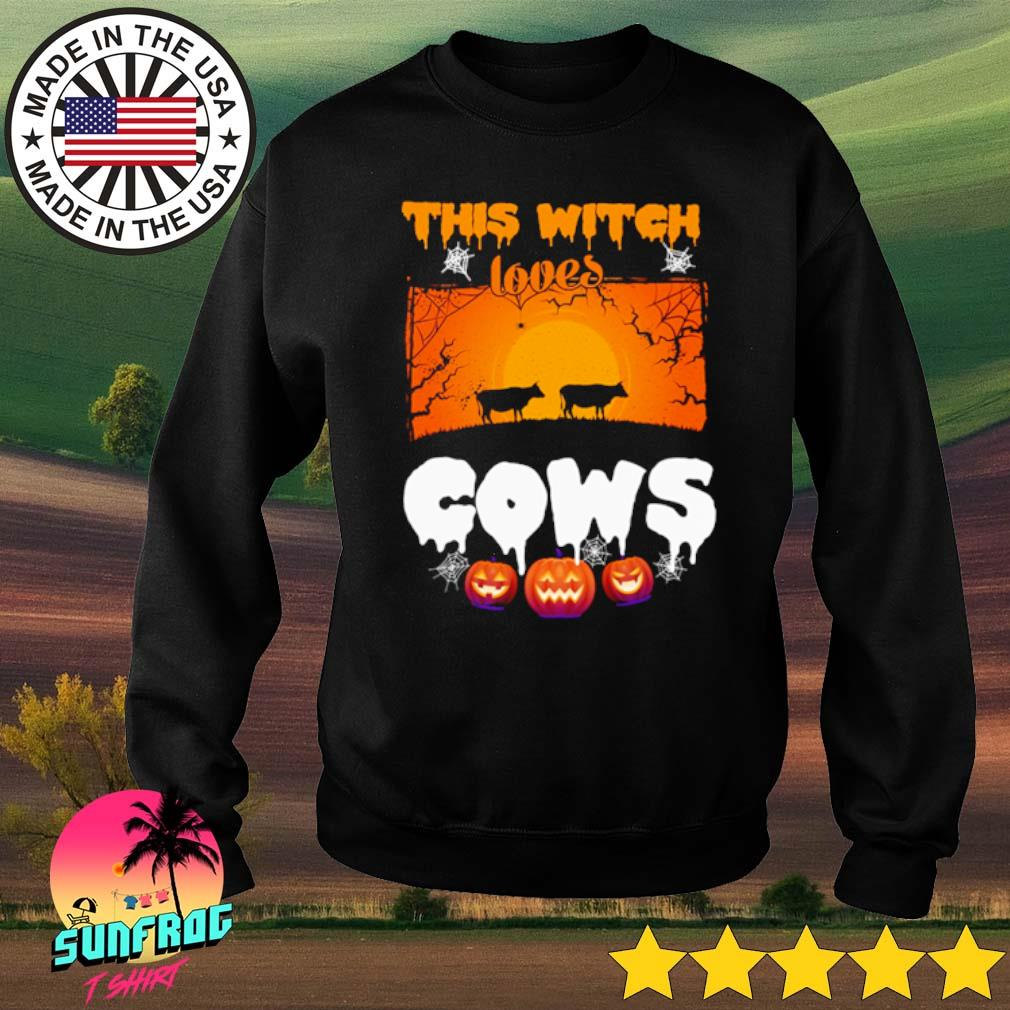 This witch loves cows Halloween s Sweater