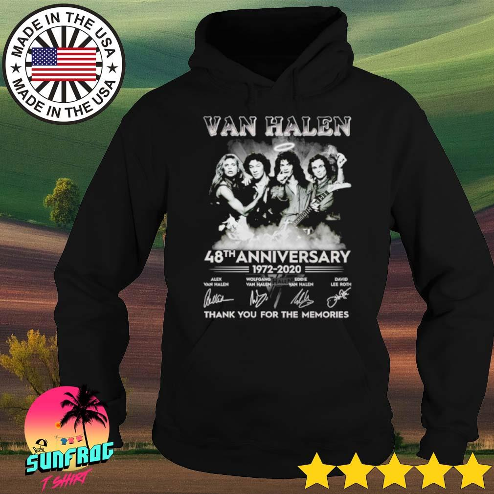 Van Halen 48th Anniversary 1972-2020 thank you for the memories signature s Hoodie