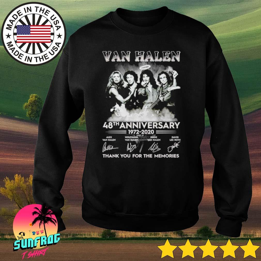 Van Halen 48th Anniversary 1972-2020 thank you for the memories signature s Sweater