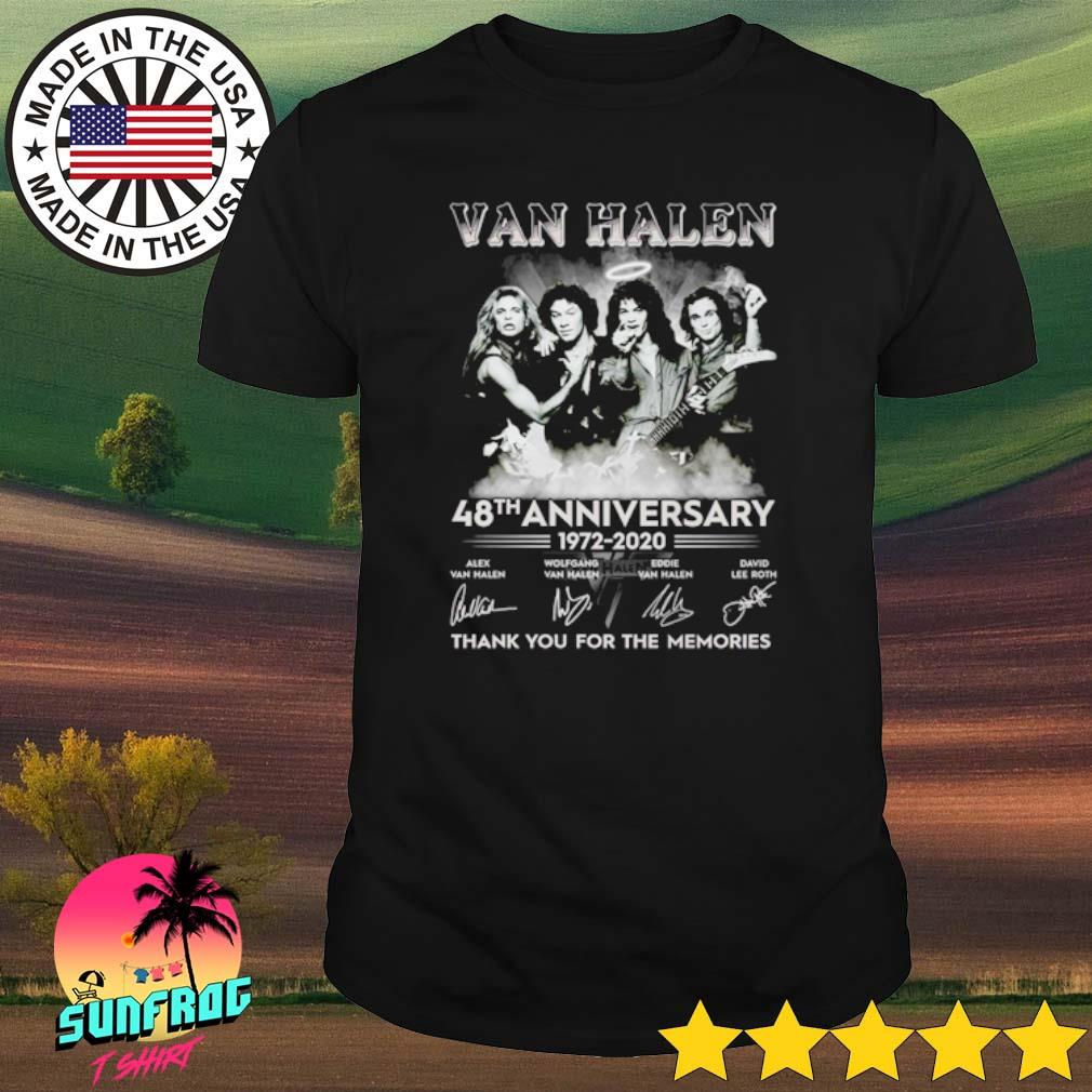 Van Halen 48th Anniversary 1972-2020 thank you for the memories signature shirt