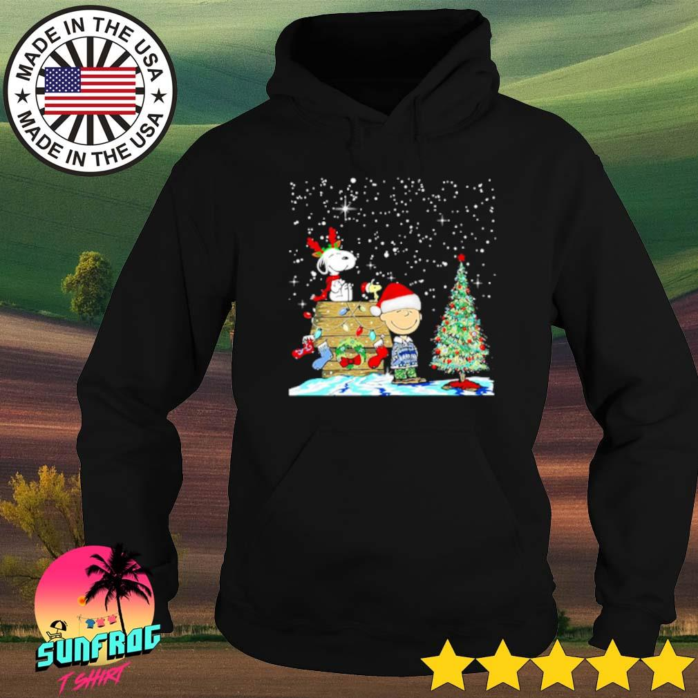 Charlie Brown and Snoopy Christmas house and tree sweater Hoodie