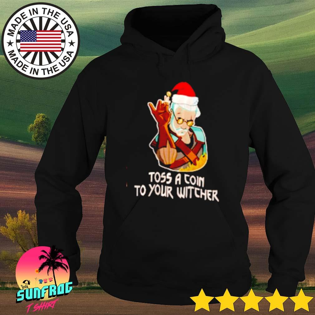 Geralt toss a coin to your witcher Santa hat Christmas sweater Hoodie
