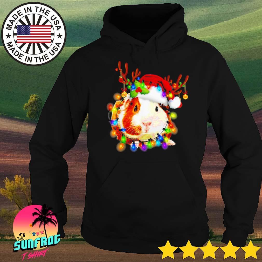 Guinea Pig reindeer Christmas lights sweater Hoodie