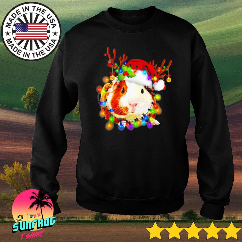 Guinea Pig reindeer Christmas lights sweater