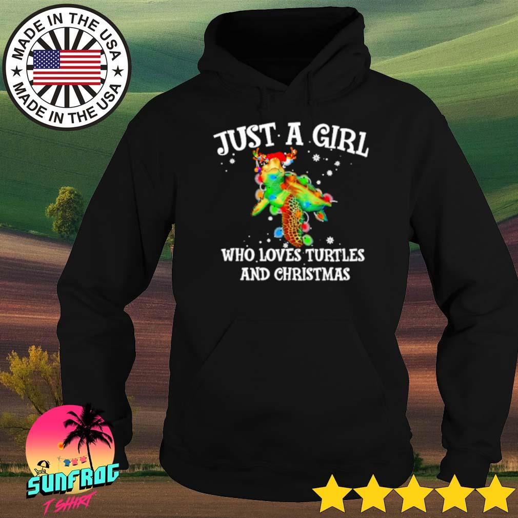 Just a girl who loves turtles and Christmas sweater Hoodie