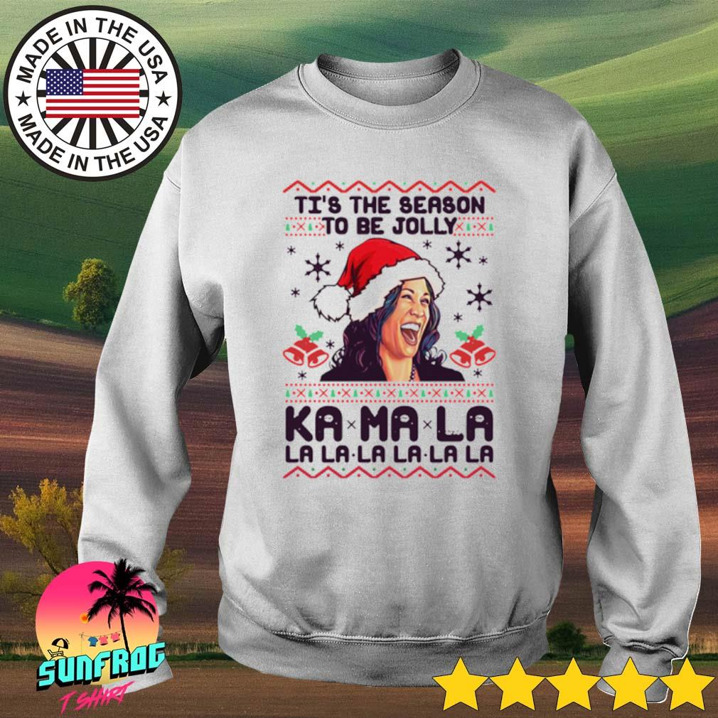 Kamala Harris Ti's the season to be jolly Kamala la la la la ugly Christmas sweater