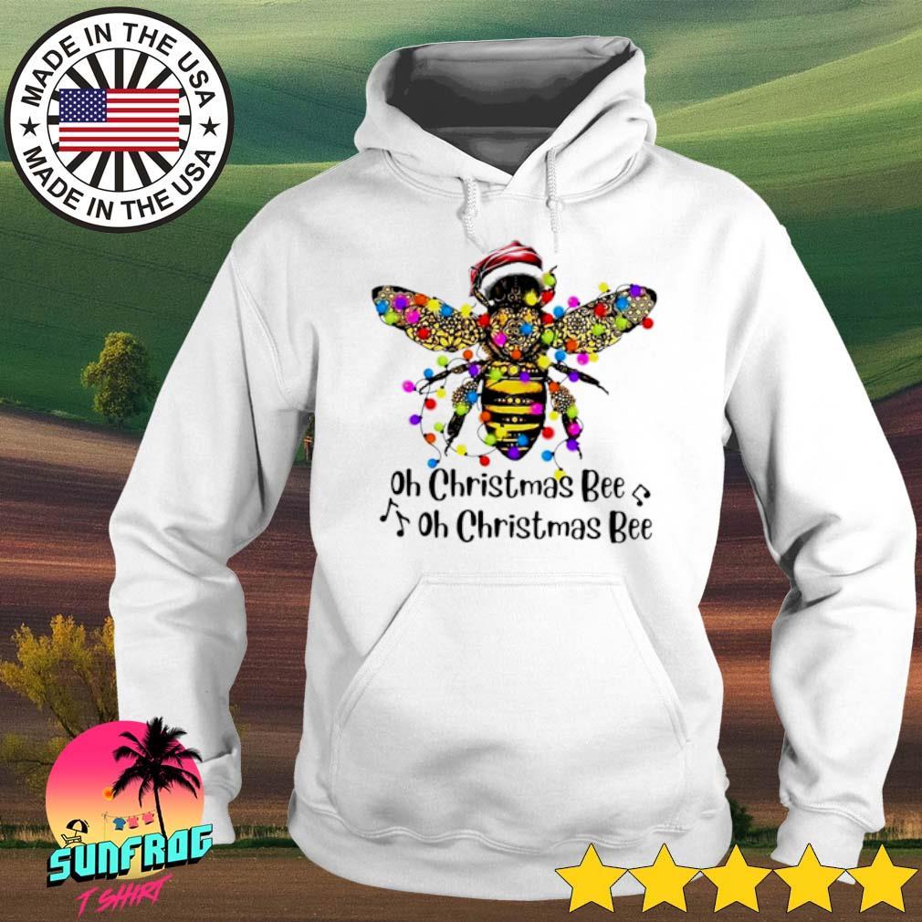 Oh Christmas Bee oh Christmas Bee lights sweater Hoodie