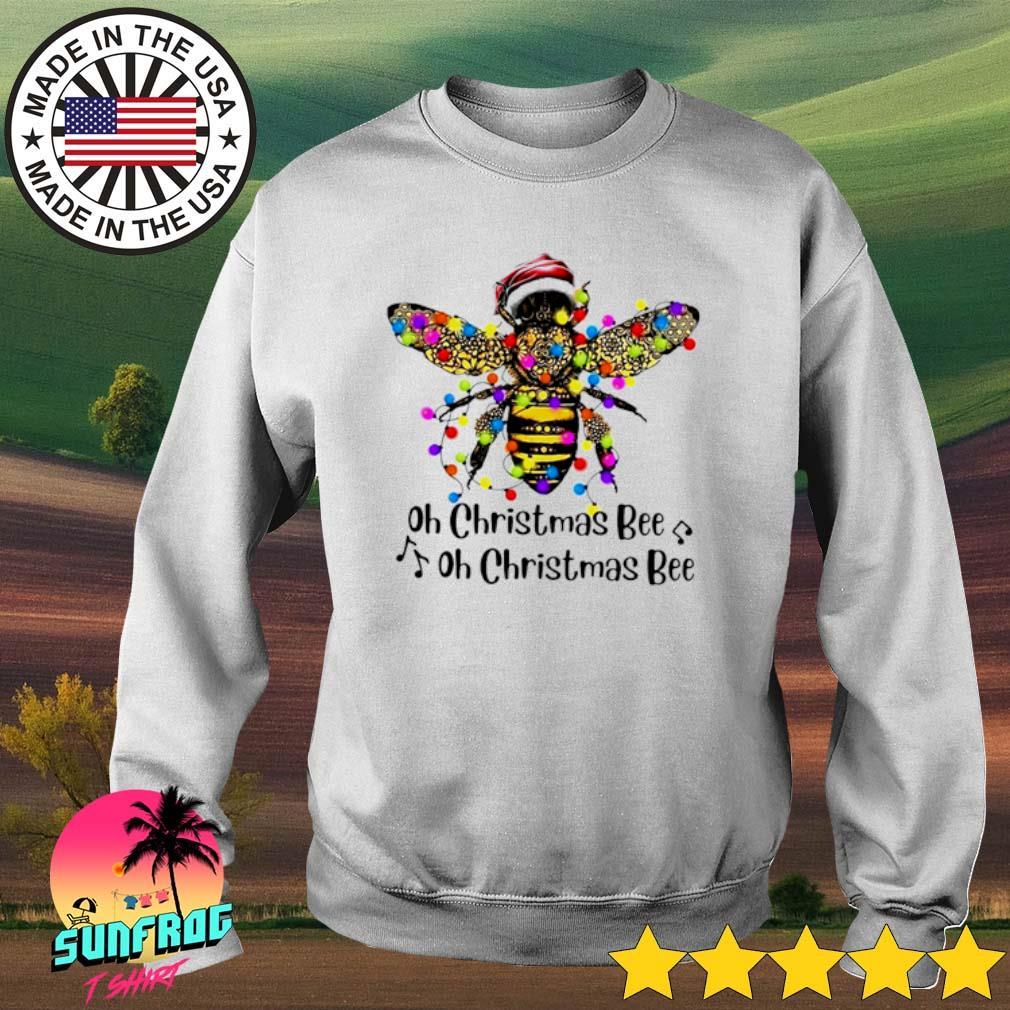 Oh Christmas Bee oh Christmas Bee lights sweater