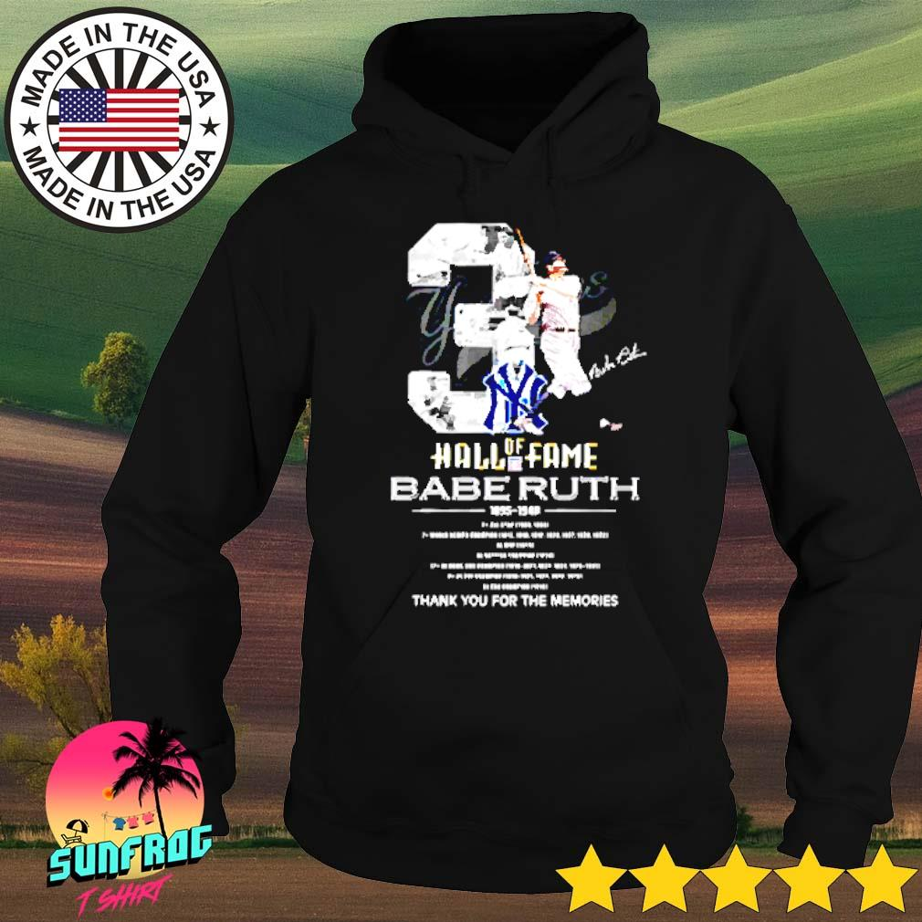3 Hall of Fame Babe Ruth 1895-1948 thank you for the memories s Hoodie